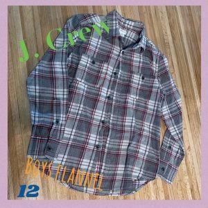 Like New J. Crew boys 12 adorable flannel